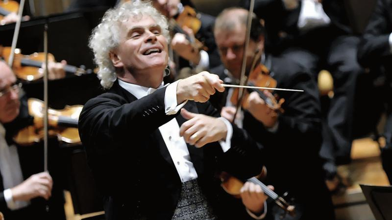 Acclaimed conductor, Sir Simon Rattle.